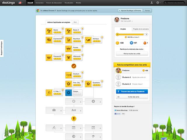 Duolingo est maintenant disponible sur Android
