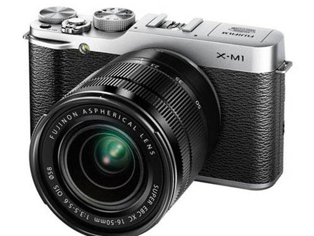 Fujifilm X-M1 : vue de face, avec objectif