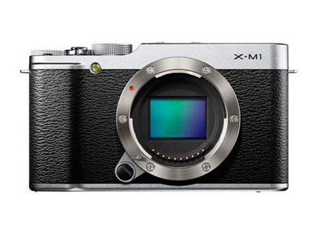 Fujifilm X-M1 : vue de face, sans objectif