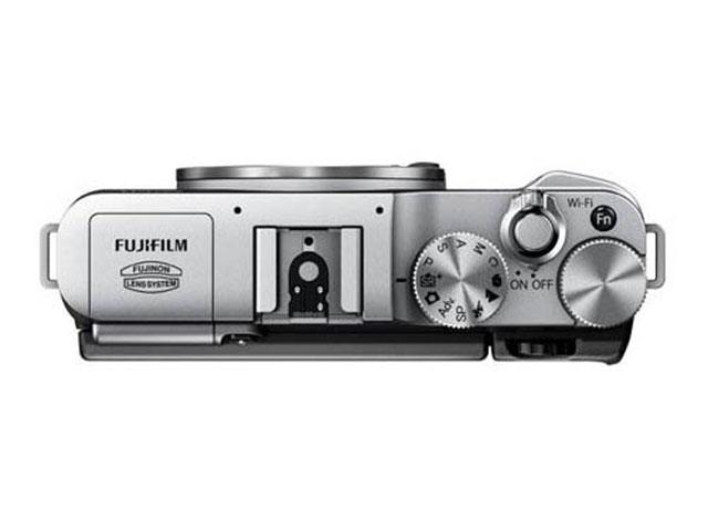 Fujifilm X-M1 : vue du haut