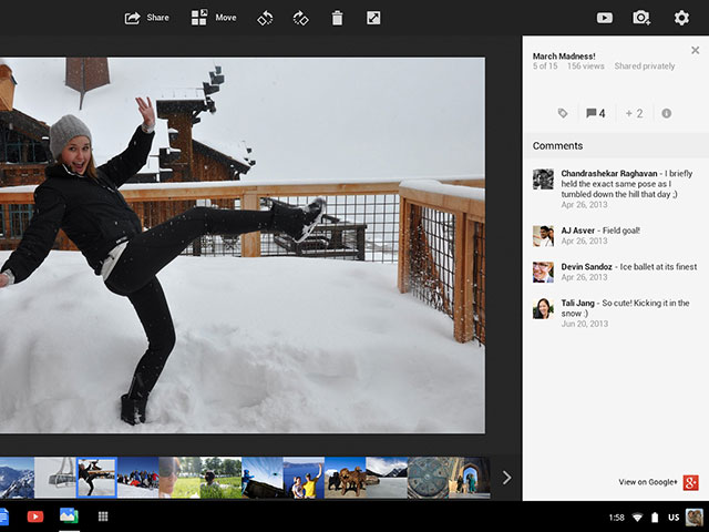 Google+ Photos : une seconde image