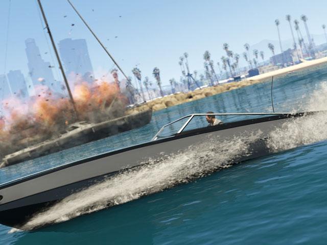 GTA 5 : sur un bateau