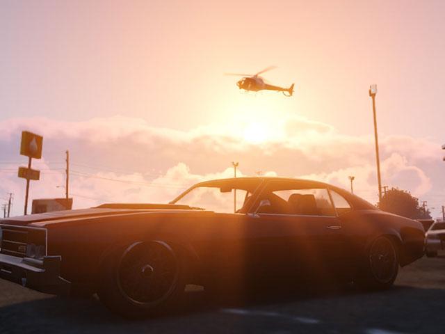 GTA 5 : coucher de soleil