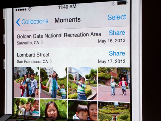 iOS 7 : les moments de la galerie photo
