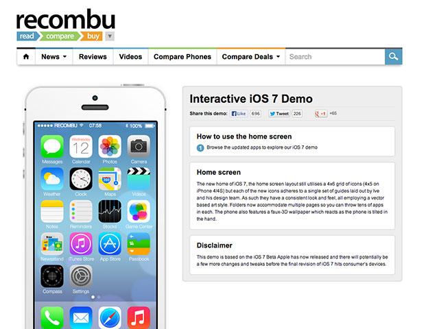 iOS 7 en HTML