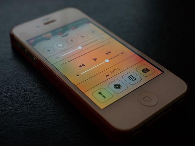 Menu caché iOS 7