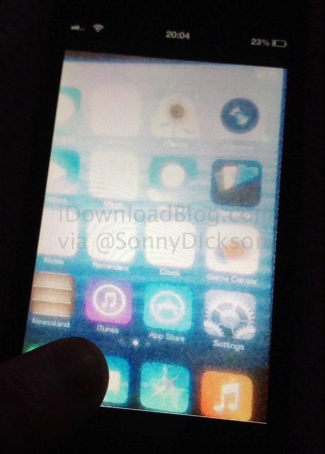 iOS 7 : première photo volée ?