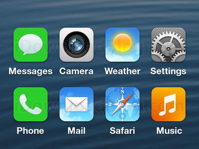 iOS 7 : une reconstitution à partir d'une image volée