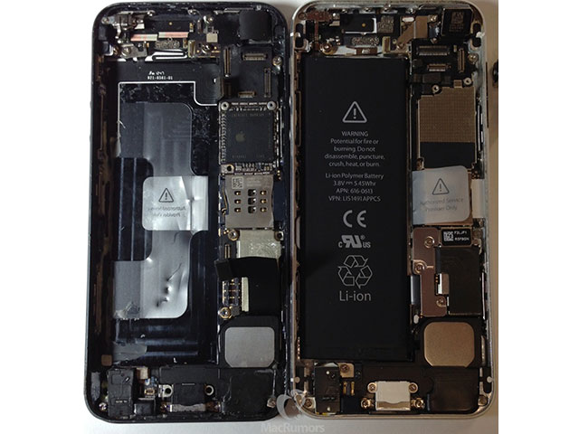 Photo composants iPhone 5S