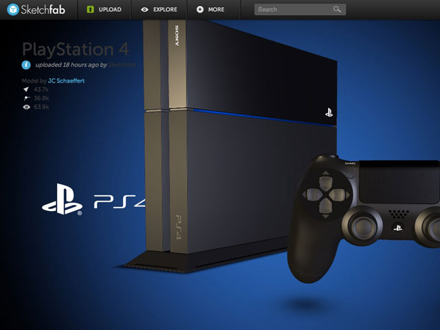 PlayStation 4 en 3D
