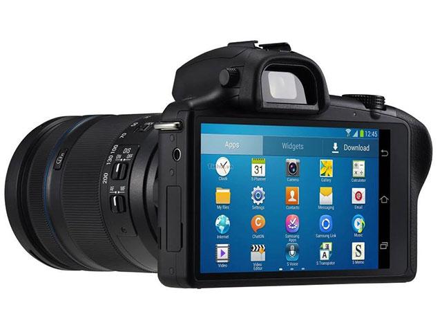 Samsung Galaxy NX : vue de dos