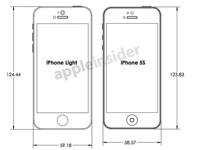 Schémas iPhone Light / iphone 5S : première photo