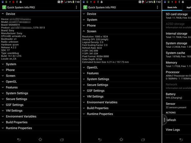 """Sony Xperia ZU """"Togari"""" : une première capture"""