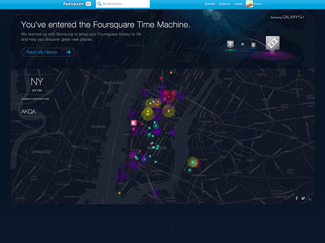 Time Machine Foursquare