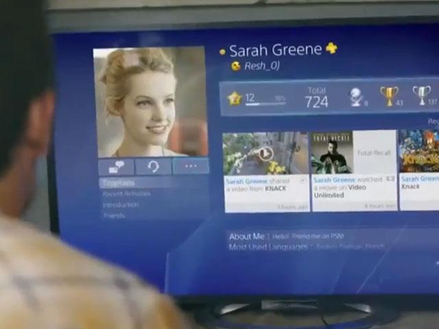 Vidéo interface PlayStation 4