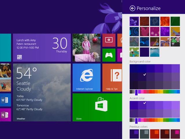 Windows 8.1 : les nouvelles options de personnalisation