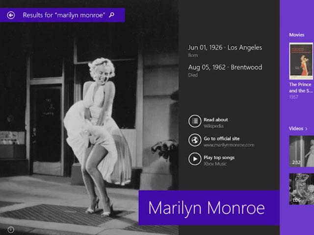 Windows 8.1 : la nouvelle recherche