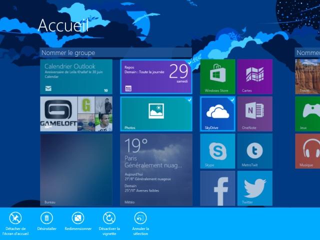 Windows 8.1 : l'écran d'accueil