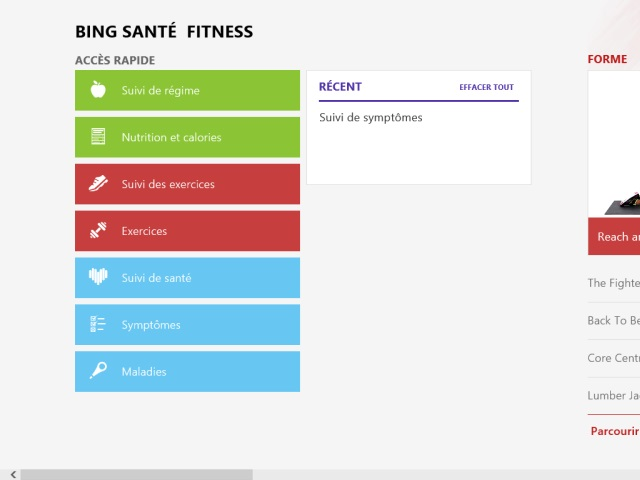 Windows 8.1 : l'application Santé & Fitness