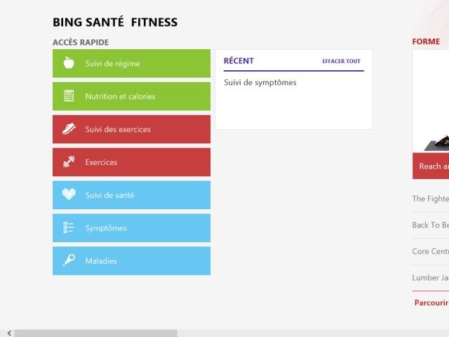 Windows 8.1 : l'application Santé & Fitness