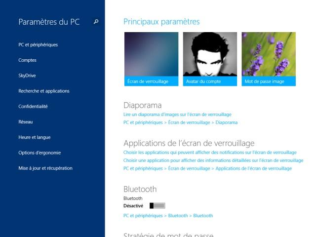 Windows 8.1 : les paramètres