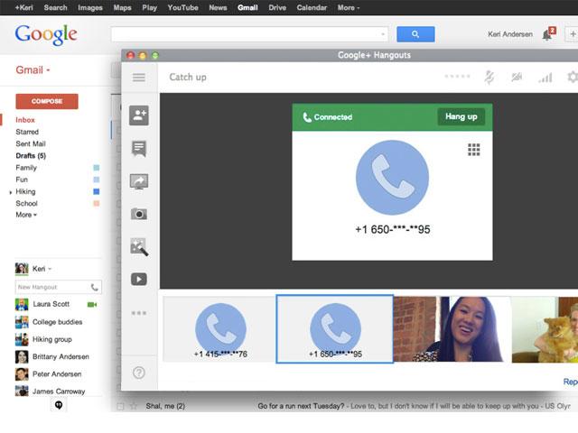 Appels Google Hangouts