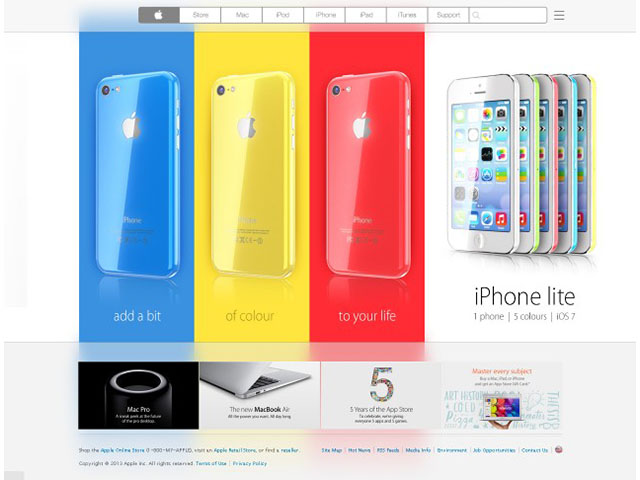 Concept iPhone «low cost» : une première image