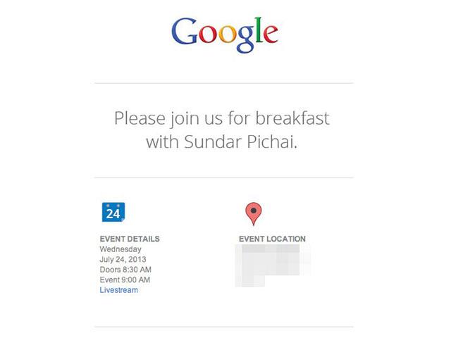 Evènement Google 24 juillet