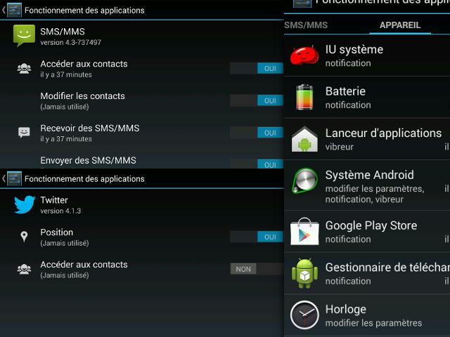 Un gestionnaire de permissions dans Android 4.3