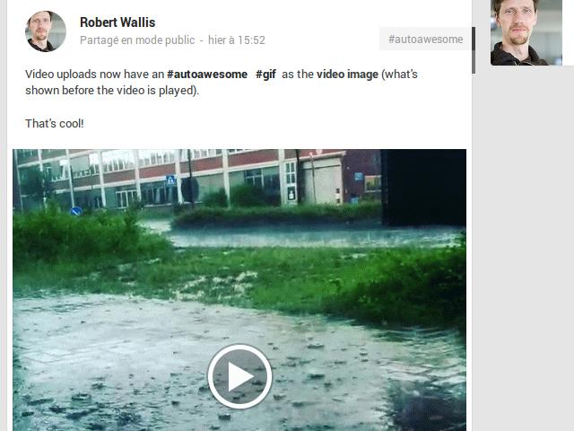 Google+ : des GIFs pour prévisualiser les vidéos