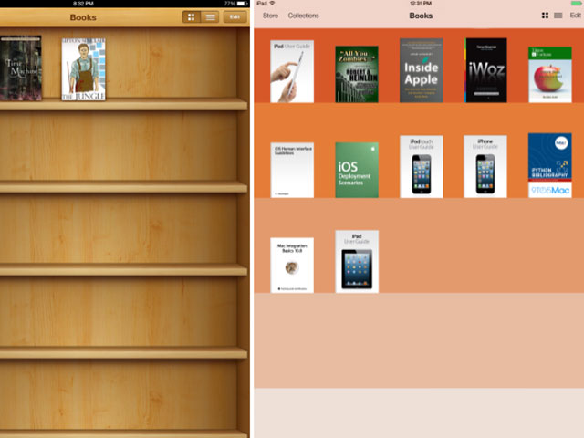 Concept iBooks iOS 7