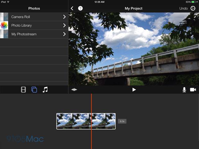 Concept iMovie iOS 7