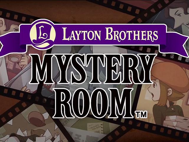 Layton Brothers Mystery Room : l'écran d'accueil
