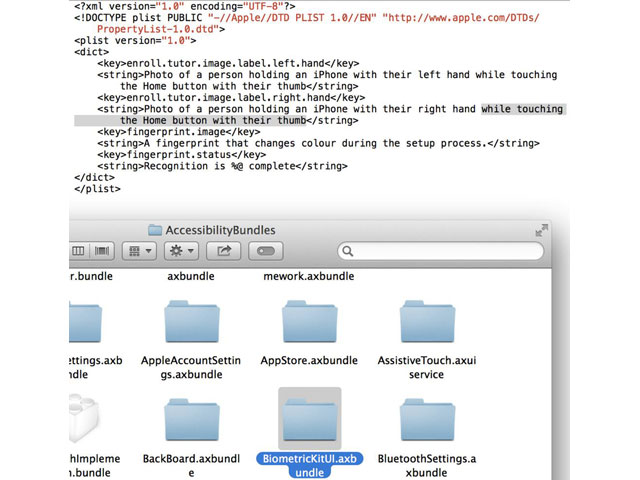 Lecteur empreintes digitales iOS 7