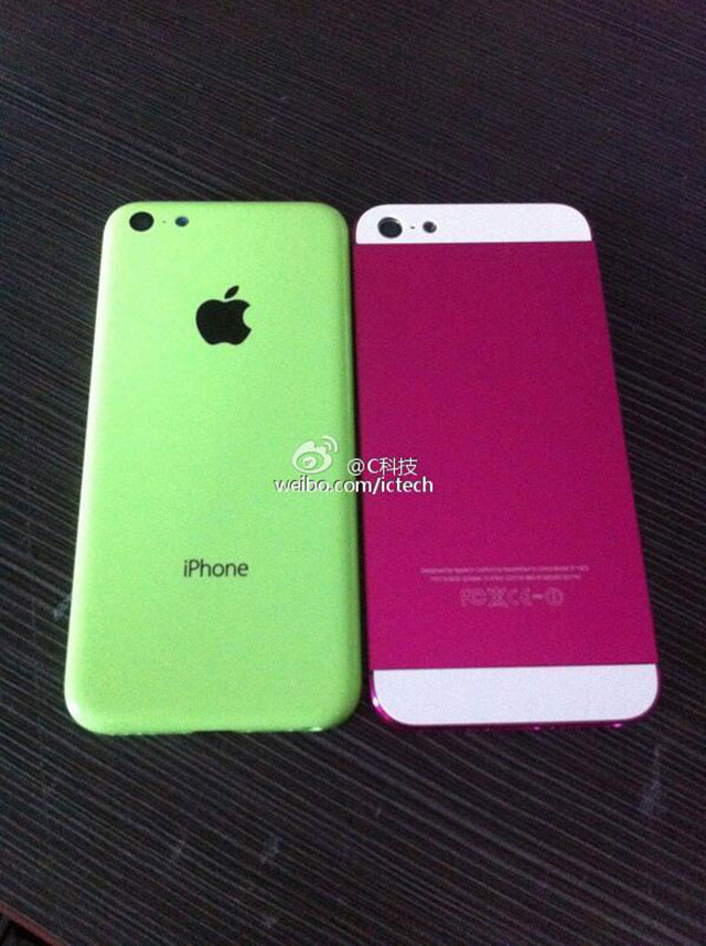"Photo iPhone ""low cost"" vert et iPhone 5"