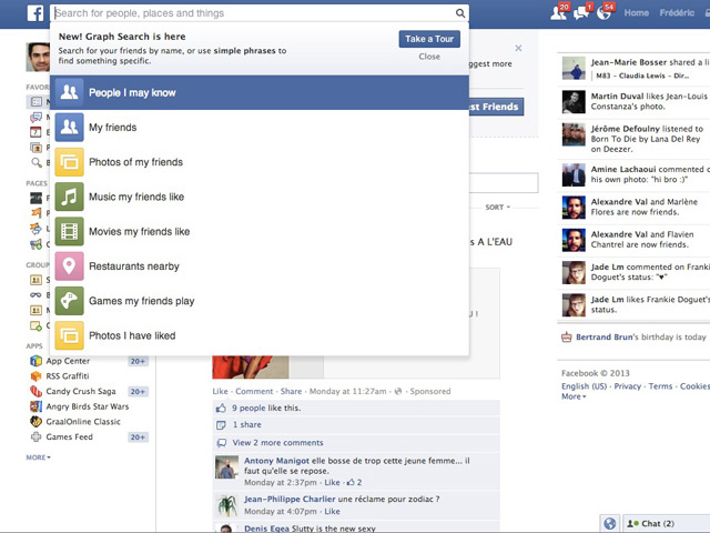 Activer Facebook Graph Search