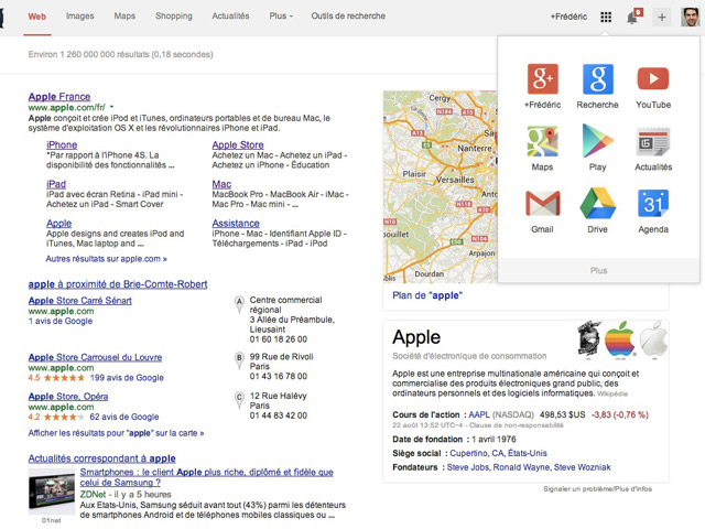 Activer nouvelle version Google Search