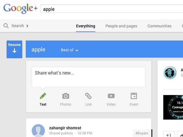 Nouveau bouton Google+