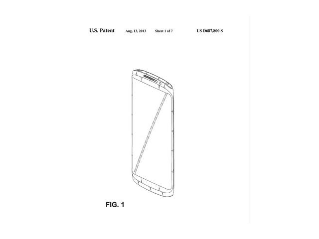 Brevet design Samsung : une première image