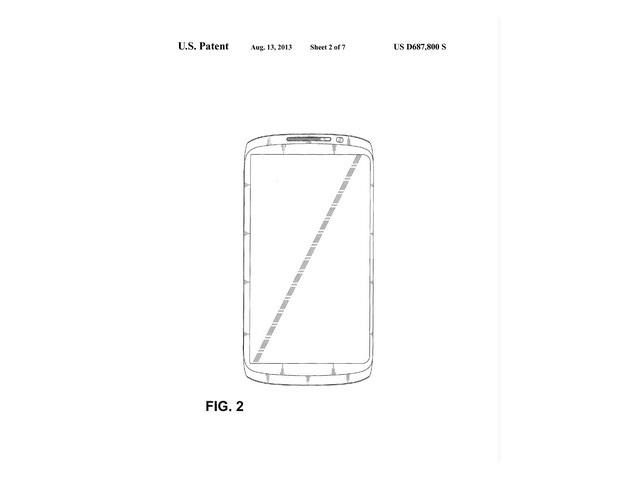 Brevet design Samsung : une seconde image