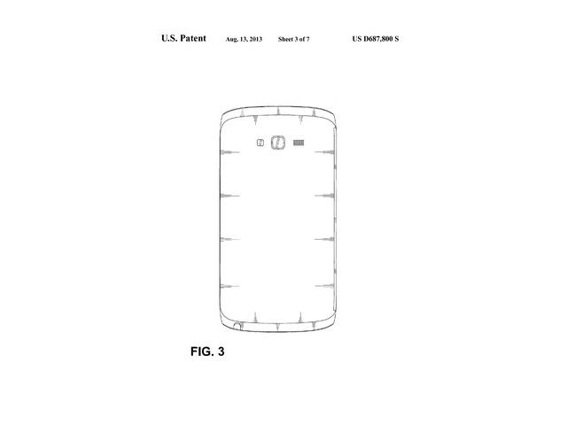 Brevet design Samsung : une troisième image