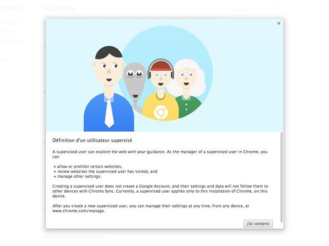 Contrôle parental Google Chrome