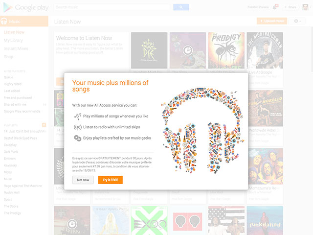 Google Play Music All Access Europe