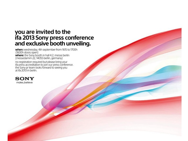 Invitation IFA Sony