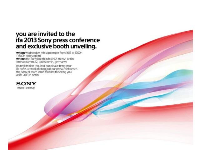 Invitation IFA Sony