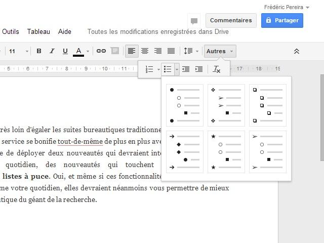 Nouveautés Google Drive août 2013