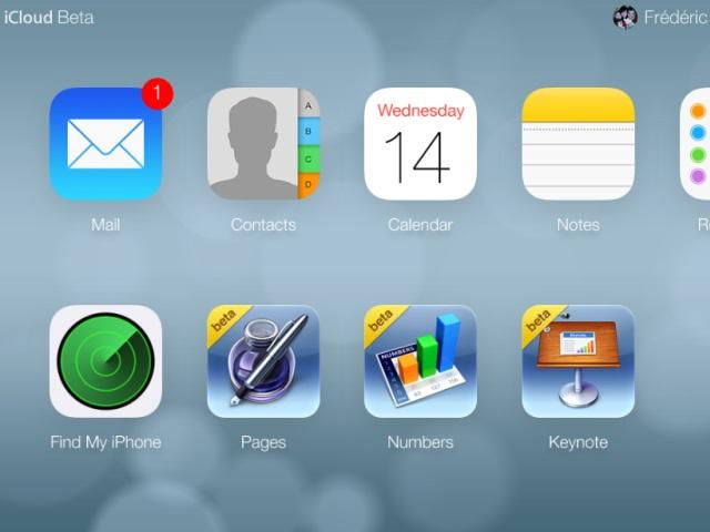 Nouvelle interface iCloud bêta : une seconde capture