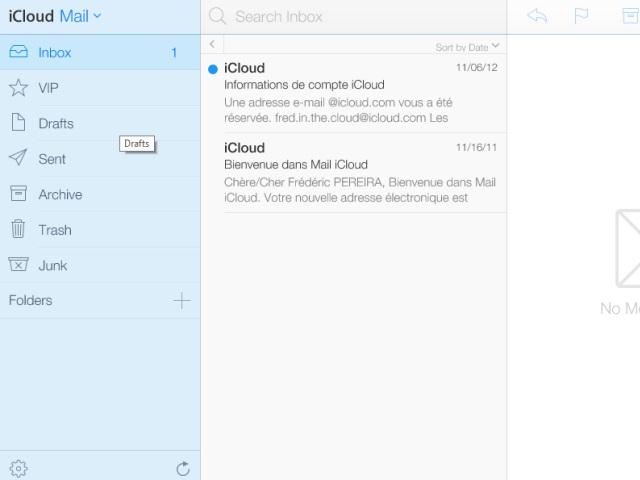Nouvelle interface iCloud bêta : une troisième capture