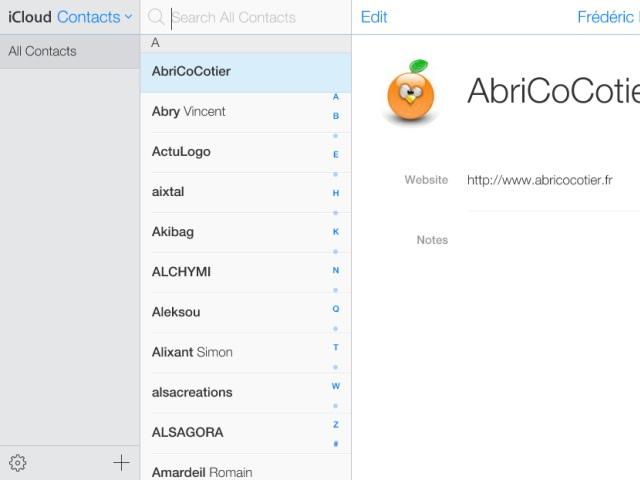 Nouvelle interface iCloud bêta : une quatrième capture