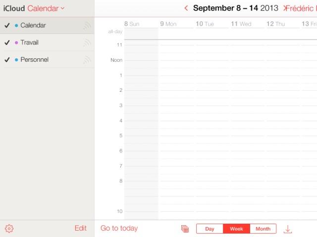 Nouvelle interface iCloud bêta : une cinquième capture
